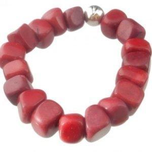 VÅGA Armband Röd-lila Sten