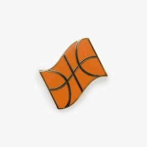 Valley Cruise Basketball Flag Pin by Eivind Molvær