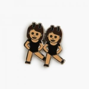 Valley Cruise Bff Lapel Pin Brunette