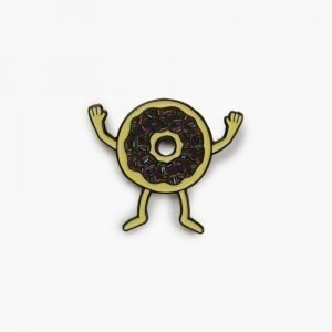 Valley Cruise Donuts Pin by Gangster Doodles