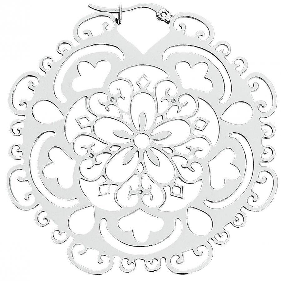 Wildcat Flower Hoop Silver Korvakorusetti