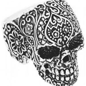 Wildcat Skull Tattoo Sormus