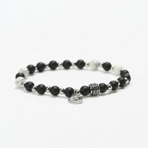 by Billgren Bead Bracelet 8941 Black/White
