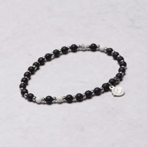 by Billgren Bead Bracelet 8942 Black/White