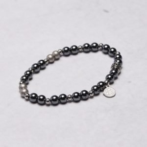by Billgren Bead Bracelet 8943 Grey/Steel