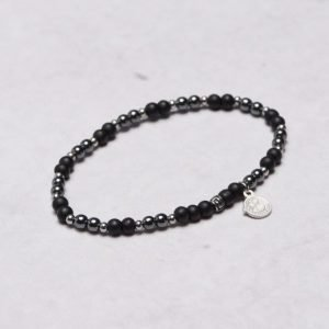 by Billgren Bead Bracelet 8944 Grey/Black