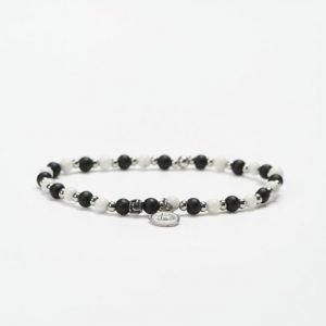 by Billgren Bead Bracelet 8949 White/Black