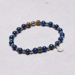 by Billgren Bead Bracelet 8950 Blue/Brown