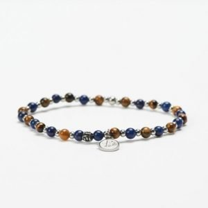by Billgren Bead Bracelet 8951 Blue/Brown