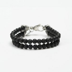 by Billgren Bead Double Bracelet 8910 Black