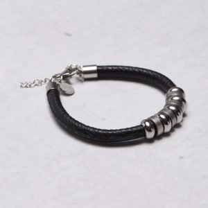 by Billgren Leather Bracelet 8922 Black