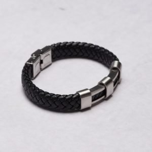 by Billgren Leather Bracelet 8962 Black