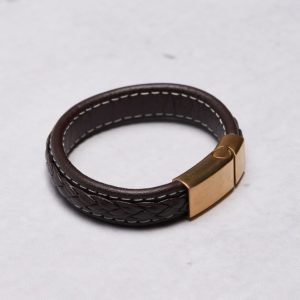 by Billgren Leather Bracelet 8971 Brown/Gold