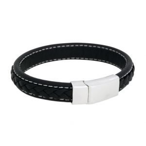 by Billgren Leather Bracelet Black