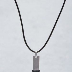 by Billgren Leather/Steel Necklace Leather/Steel