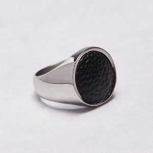 by Billgren Ring 5604 Steel/Leather